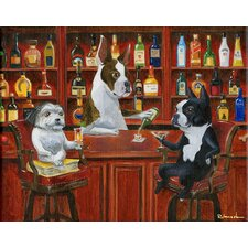 'Three Friends At the Bar' by Brian Rubenacker Graphic Art on Canvas