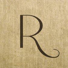Vintage Linen Monogram Graphic Art