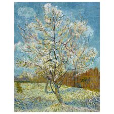 'Pink Peach Tree in Blossom' by Vincent Van Gogh Painting Print on Canvas