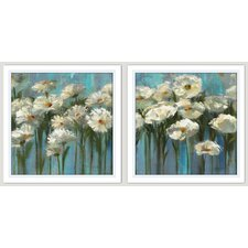 Flowers of Dreams 2 Piece Framed Painting Print Set