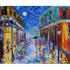 'New Orleans Night' by Karen Tarlton Painting Print on Canvas