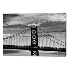 Benjamin Franklin Bridge Photographic Print on Canvas