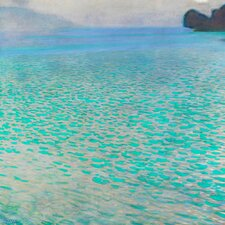 'Attersee' by Gustav Klimt Painting Print on Canvas