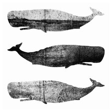 'Whales III' by Elisabeth Fredriksson Graphic Art on Canvas
