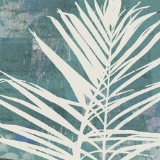 Fronds on Azure Painting Print