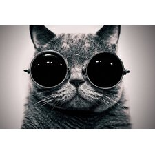 'Cyber Cat' by Johnny Alex Photographic Print on Canvas
