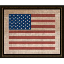 <strong>Epic Art</strong> American Flag on Antique Burlap Wall Art