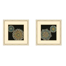 Midnight Rosette II Framed Graphic Art