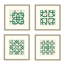 Felt Interlocking Framed Graphic Art in Green
