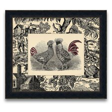 <strong>Epic Art</strong> Toile Roosters Wall Art Collection