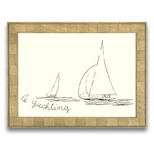 <strong>Epic Art</strong> A Sporting Try Le Yachting Wall Art
