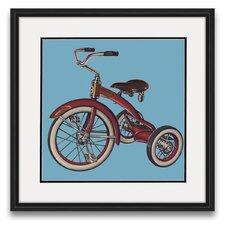Pastimes of Yesteryear Bike Framed Graphic Art