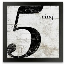 French Number 5 Framed Graphic Art