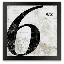 French Number 6 Framed Graphic Art
