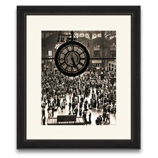 Ny Station Circa 1930's Framed Photographic Print