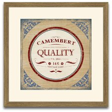 The Connoisseur's Eye Camenbert Framed Graphic Art