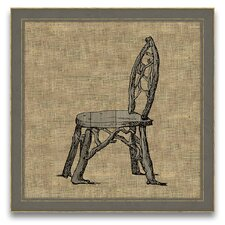 Antique Elements Fois Bois Chair Framed Graphic Art
