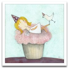 <strong>Epic Art</strong> Playroom Bliss Cupcake Fairy Wall Art