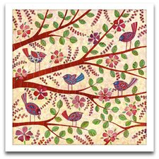 Playroom Bliss Birds on Branches Framed Art