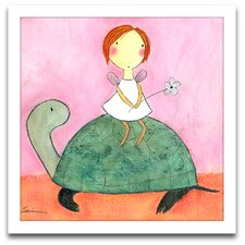 Playroom Bliss Fairy on Turtle Framed Art