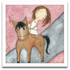 Playroom Bliss Horse Framed Art