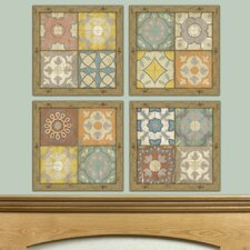 <strong>Epic Art</strong> Quilted Warmth Barcelona Tiles Wall Art (Set of 4)