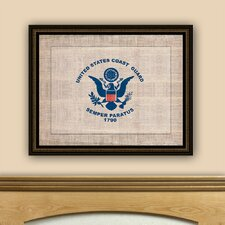 <strong>Epic Art</strong> The Vintage Patriot Coast Guard Flag Wall Art