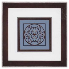 Chocolate and Blue Ironwork III by Chariklia Zarris Framed Graphic Art