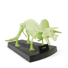 Jurassic Night Triceratops Skeleton