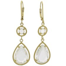 Pear Cut Cubic Zirconia Drop Earrings