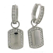 <strong>Splendor Jewelry</strong> Cubic Zirconia Hoop Earrings