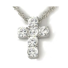 Religious Sterling Silver Cross Necklace