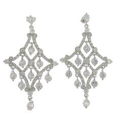 Cubic Zirconia Chandelier Earrings