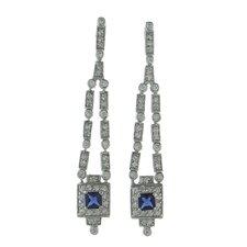 Art Deco Gemstone Drop Earrings