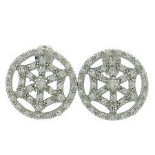 Web Design Cubic Zirconia Stud Earrings
