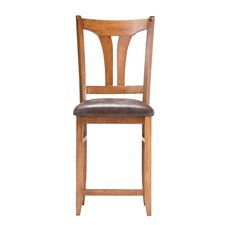 <strong>American Hardwood Creations</strong> Ava Bar Stool with Cushion
