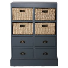 Nantucket 4 Drawer 4 Basket Chest