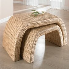 Woven 2 Piece Nesting Table Set