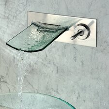 Single Handle Wall Mount Waterfall Bathroom Sink Faucet