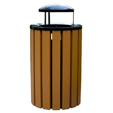 Eco Style Recycled Plastic Receptacle with Top