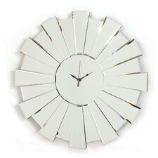 Sunburst Mirror Glass Clock