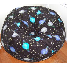 Outer Space Anti-Pill Fleece Bean Bag Chair