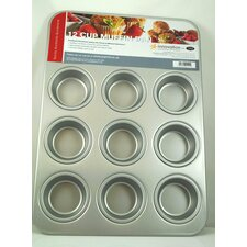 12 Cup Anodised Aluminium Muffin Pan