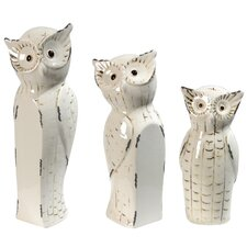 Giftware 3 Piece Owl Family Statue