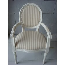 Louis Round Back Striped Carver Armchair
