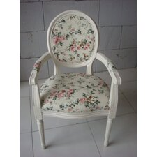 Louis Round Back Floral Carver Armchair