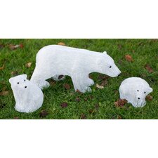 Christmas 3 Piece Polar Bear Family Set
