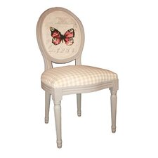 Louis Round Back Butterfly and Chequered Chair