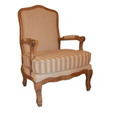 Antique Striped Armchair