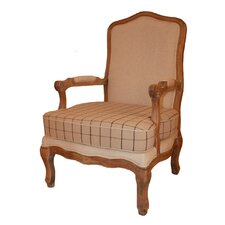 Antique Chequered Armchair